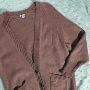 Fossil brown oversized button up cardigan